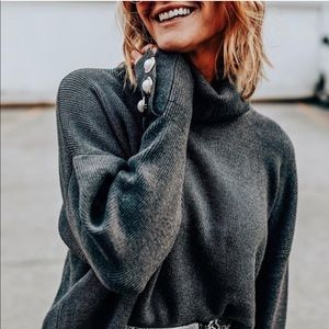Zara sweater with faux pearls